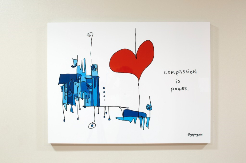 Compassion is power by atgapingvoid visit them