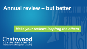 Annual review – but better